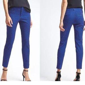 Banana Republic Sloan Ankle Pant Blue Geo Print